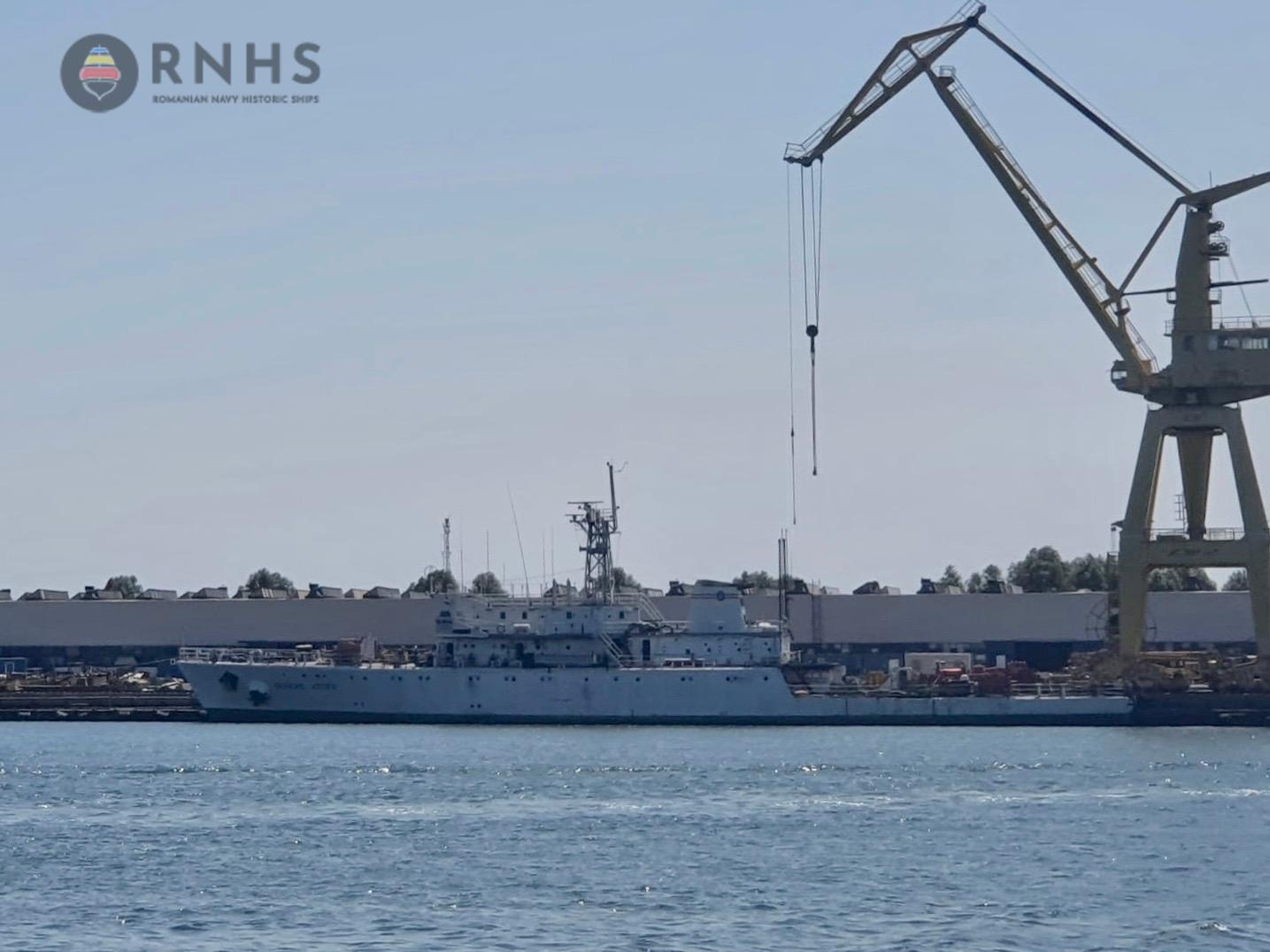 licitatie de modernizare a navei de cercetari marine si scafandri Grigore Antipa